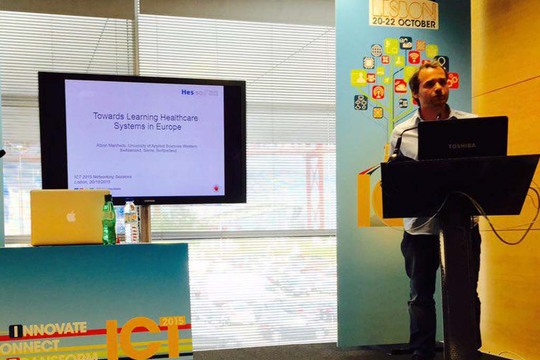 Manfredo Atzori organized a H2020 networking session at ICT 2015