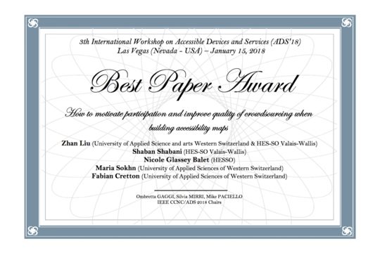 Congratulations to the Best Paper Award winners!