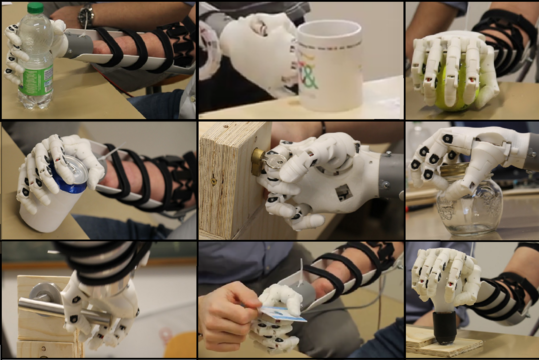 Eye-tracking data improves prosthetic hands