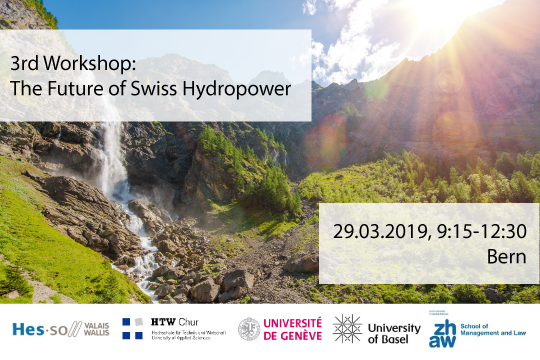 3rd Workshop: The Future of Swiss Hydropower